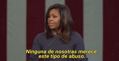 El inspirador discurso de Michelle Obama contra Trump y los abusos sexuales, transcrito entero