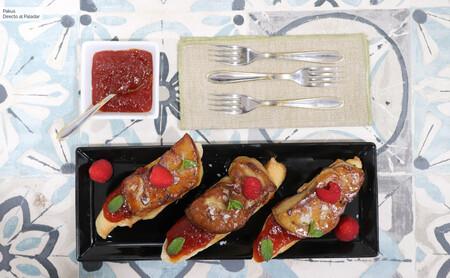 Escalopes de foie gras a la plancha con escamas de sal y mermelada de tomate, la receta del aperitivo más elegante