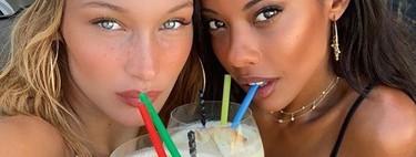 Las manicuras francesas vuelven a ser tendencia y así lo demuestran estas 9 celebrities como Bella Hadid o Kylie Jenner