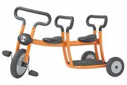 Triciclo en tándem