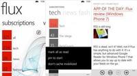 Flux vuelve a Windows Phone con soporte para Feedly