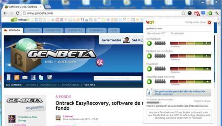 WOT, herramienta para obtener seguridad adicional en tu navegador