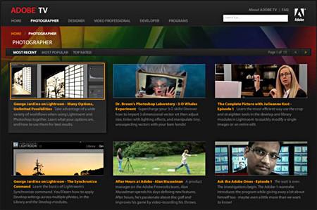 Adobe TV: videotutoriales de primera mano