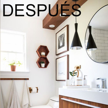 Antes y después: la reforma completa de un cuarto de baño que incorpora muchas de las tendencias del momento