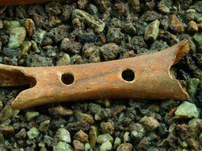 Este es el instrumento musical más antiguo y está tallado en un hueso de la pata de un oso