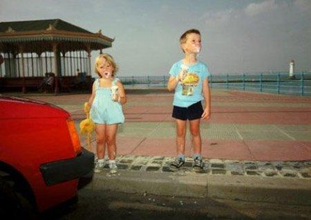 Children icecream, Martin Parr