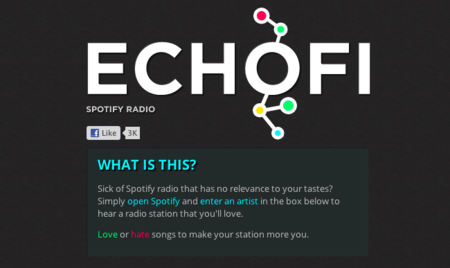 Echofi + Spotify: una experiencia similar a Pandora