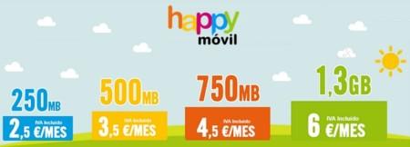 Happy móvil reorienta sus tarifas para complementar la oferta de MÁSMÓVIL