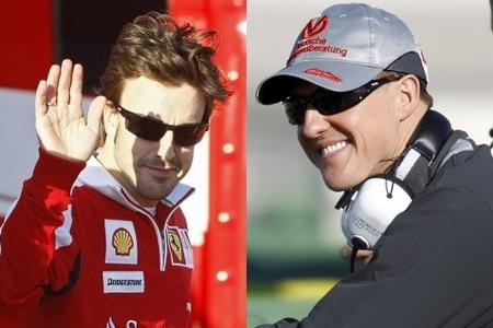 Las primeras impresiones de dos grandes: Michael Schumacher y Fernando Alonso