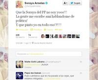 Soraya no habla de política pero... ¿Y de sus cejas?