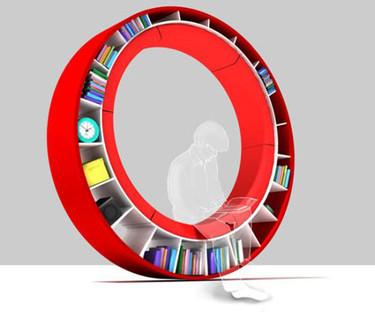 Circular Bookshelves, aprovechando las bondades del círculo