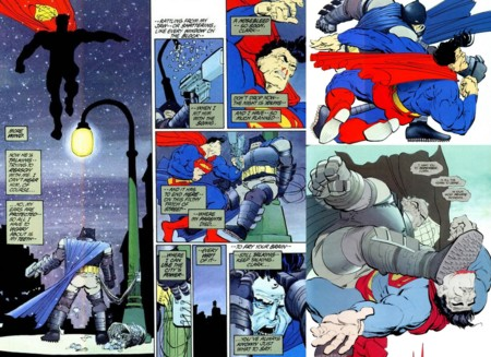 Así imaginó Frank Miller el duelo de Batman contra Superman