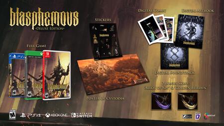 Blasphemous recibirá en junio una edición física Deluxe repleta de contenidos, entre ellos un póster o un libro de arte digital