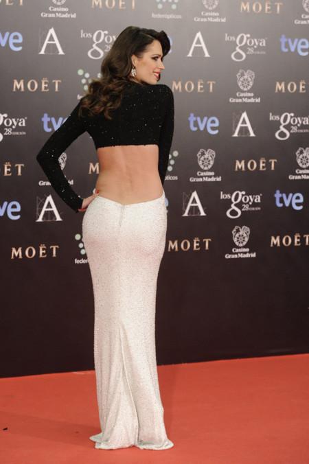 Premios Goya 2014 vestidos con escotes en la espalda. Mar Saura Michael Kors bicolor
