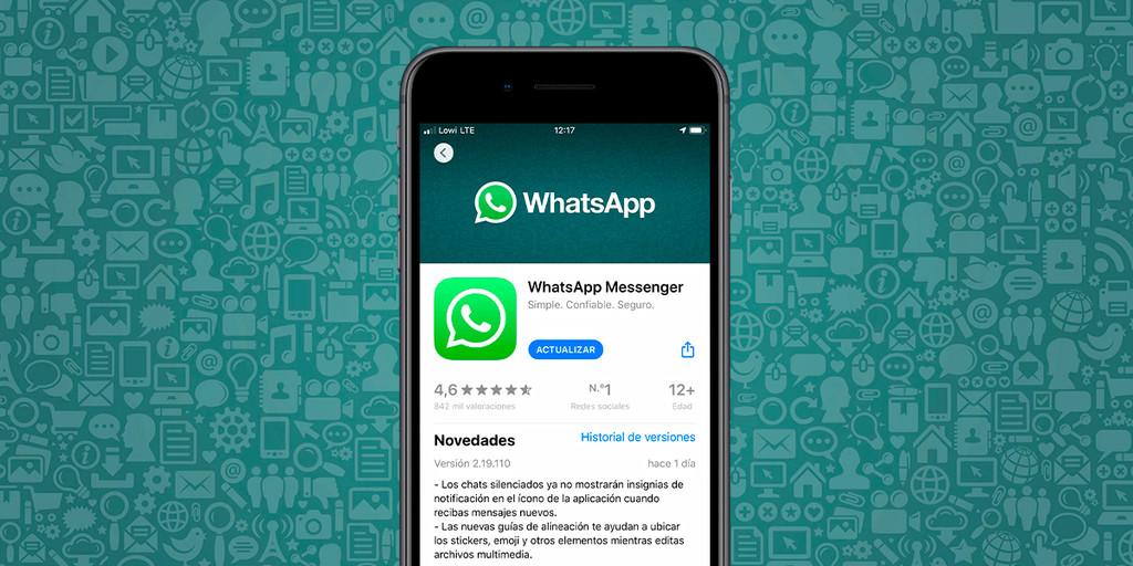 WhatsApp para iOS™ ya no presenta globos de comunicación por los grupos silenciados en su última actualización