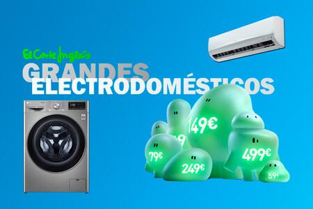 Ofertas en grandes electrodomésticos con alta eficiencia energética en los días sin IVA de El Corte Inglés