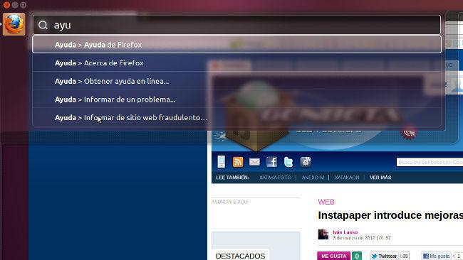 Ubuntu 12.04 Beta 1 HUD
