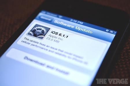 Apple libera la actualización de iOS 6.1.1 pero  sólo para el iPhone 4S