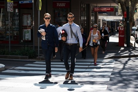 look casual corbata tricot street style