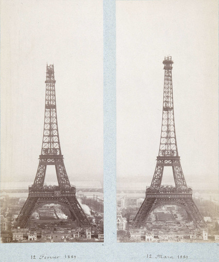 Public Domain Images Eiffel Tower Construction 1800s 0005