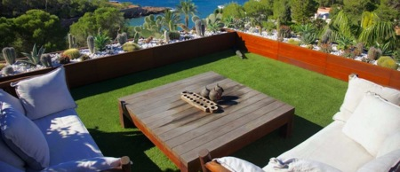 Césped solidario artificial para tu jardín y terraza