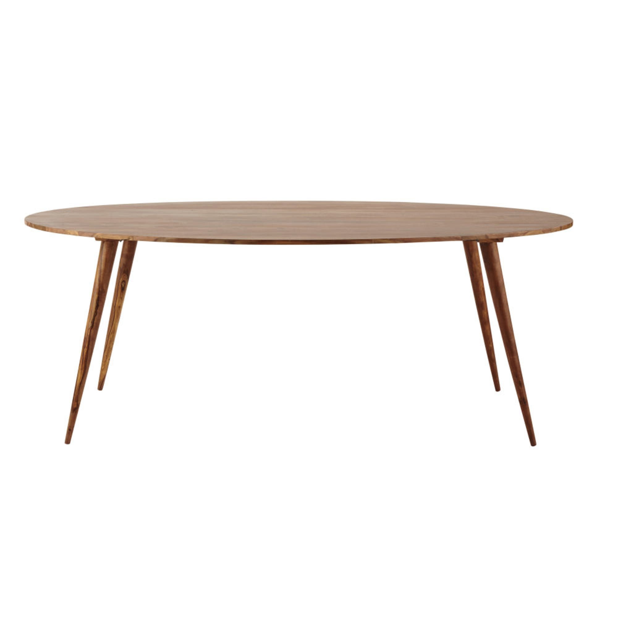 ANDERSEN.- Mesa de comedor ovalada de madera maciza de sisu L. 200