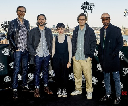 Stephen Merchant, Fede Alvarez, Claire Foy, Sverrir Gudnason y Lakeith Stanfield