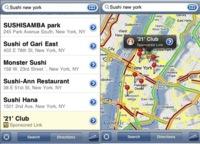 Google Maps empieza a introducir publicidad en el iPhone