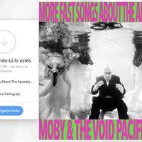 Moby ya no cree en las discográficas y apuesta por WeTranfer para regalar su más reciente disco... sí, gratis