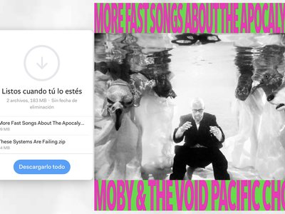 Moby ya no cree en las discográficas y apuesta por WeTransfer para regalar su más reciente disco... sí, gratis