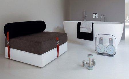 Puf sof y cama triple funci n en un convertible - Puff de ikea ...