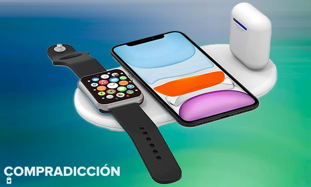 Esta base de carga para tus dispositivos Apple es todo un chollazo: carga tu iPhone, tu Apple Watch y tus AirPods a la vez por sólo 8,40 euros con este cupón en Amazon