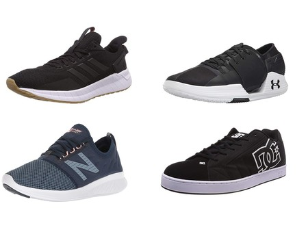 5 chollos en tallas sueltas de zapatillas oscuras  Adidas, New Balance o Under Armour en Amazon