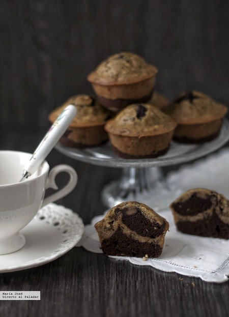 Muffins de cacao y plátano: receta vegana