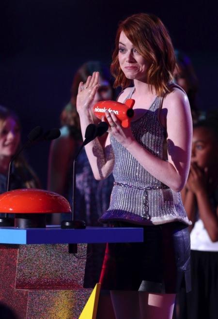 Emma Stone, simpaticona y ganadora