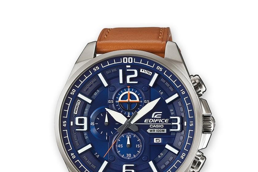 cd9f9ecc5498 Por 95 euros puedes hacerte con este reloj Casio Edifice con correa de cuero  en Amazon