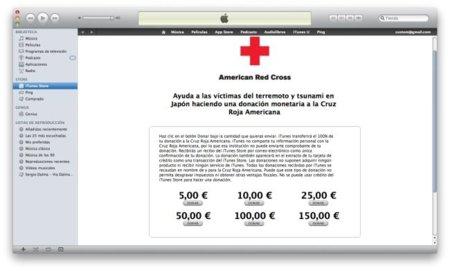 Ayuda a las víctimas en Japón vía donaciones en iTunes