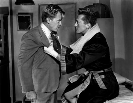 Arthur Kennedy con Kirk Douglas en El Ídolo de Barro
