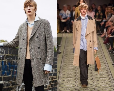 Burberry Zara Shirts Under Coats Fall Winter 2016