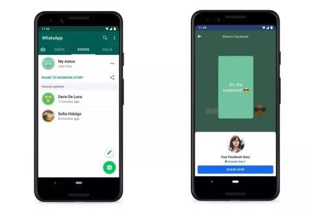 Compartir tu estado de WhatsApp con Facebook ya está en pruebas, y también se podrá con Instagram o Google Fotos