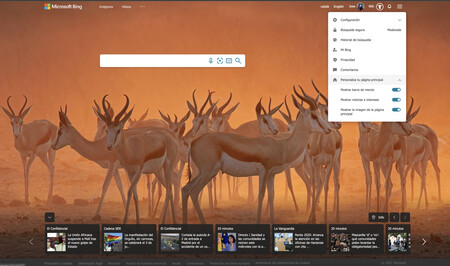 Bing ya permite personalizar con temas las búsquedas que realizamos con cualquier navegador: así puedes cambiar su aspecto