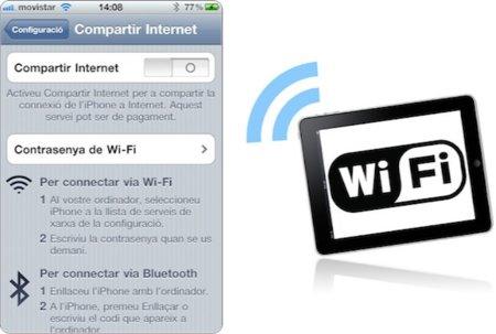 iPhone4+personal hotspot+iPad Wifi, configuración posible pero con problemas