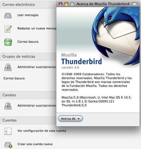Thunderbird 3 Release Candidate 1