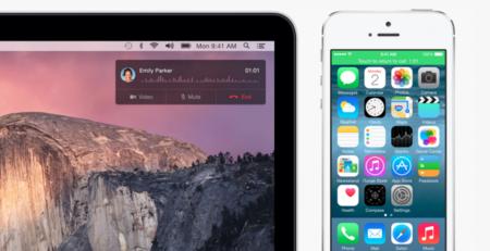 Coger el teléfono en un Mac