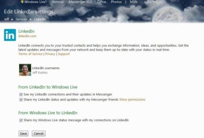 LinkedIn ahora se integra con Hotmail y Messenger