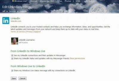 LinkedIn ahora se integra con Hotmail y Messenger