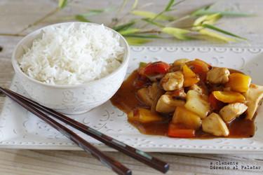 Receta de pollo al estilo asiático