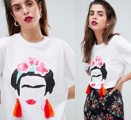 636d2bd24 Camiseta tipo collage de Frida Kahlo de Reclaimed Vintaged Inspired en ASOS  por 41