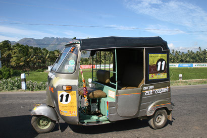 Autorickshaw Challenge en India.