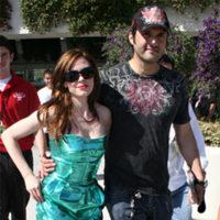Rose McGowan y Robert Rodríguez en el Comic-Con